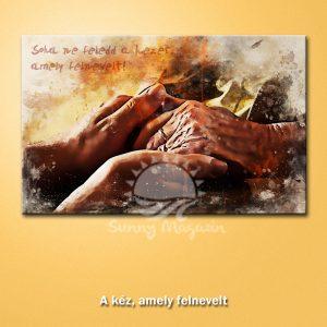 A kéz, amely felnevelt – vászon falikép vakrámával