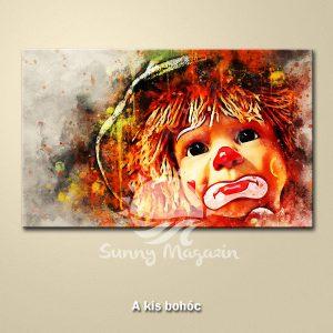 A kis bohóc – vászon falikép vakrámával