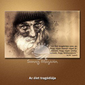 Az élet tragédiája – vászon falikép vakrámával