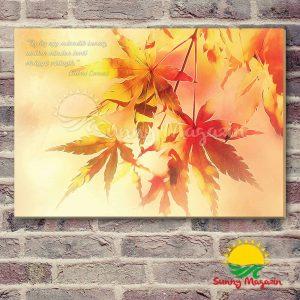 Az ősz virágai – vászon falikép vakrámával
