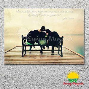 Igaz barátok – vászon falikép vakrámával