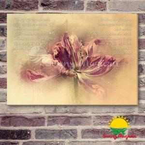 Ne sírj ifjúság múlásán – vászon falikép vakrámával