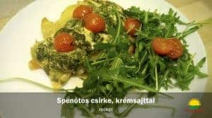 Spenótos csirke, krémsajttal - recept