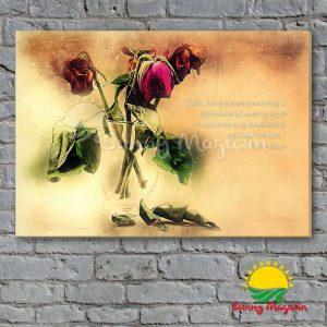 Szembenézni a fájdalommal – vászon falikép vakrámával